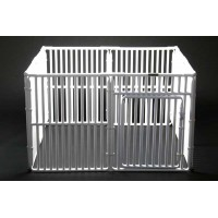 "30"" x 4' x 4' Plastic Dog Cage Crate"