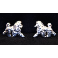 Show Poodle Cuff Links [Silver]