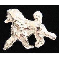 Show Poodle Pin [Silver]
